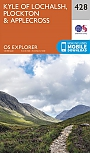 Topografische Wandelkaart 428 Kyle of Lochalsh / Plockton / Applecross - Explorer Map