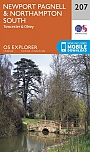 Topografische Wandelkaart 207 Newport Pagnell / Northampton South  Towcester & Olney - Explorer Map