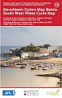 Fietskaart 13 Wales South West Wales  Cycle Map Sustrans Pocket Sized