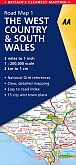 Wegenkaart - Landkaart 1 The West Country & South Wales - AA Road Map Britain