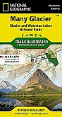 Wandelkaart 314 Many Glacier Waterton Lakes (Montana) - Trails Illustrated Map / National Park Maps National Geographic