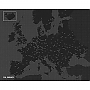 Europakaart Wall Map Diary Europe Pin World (Zwart) 96 x 77 cm | Palomar