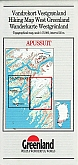 Wandelkaart Groenland 13 Apussuit Hiking Map  Greenland | Harvey Maps