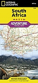 Wegenkaart - Landkaart Zuid-Afrika - Adventure Map National Geographic