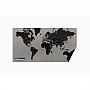 Wereldkaart Wall Map Diary Pin World (Zwart) 130 x 70 cm | Palomar