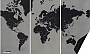 Wereldkaart Wall Map Diary Pin World XL (Zwart) 210x 130cm | Palomar