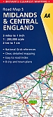 Wegenkaart - Landkaart 5 Midlands & Central England - AA Road Map Britain