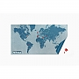 Wereldkaart Wall Map Dairy Pin World (Blauw) | Palomar