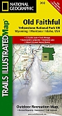Wandelkaart 302 Yellowstone South West/Old Faithful - Trails Illustrated Map / National Park Maps National Geographic