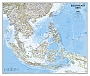 Wandkaart Asia South East in staatkundige indeling 96 x 81 cm  Papieren Kaart  National Geographic Wall Map