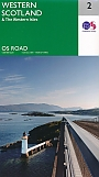 Wegenkaart - landkaart 2 Roadmap Western Scotland & the Western Isles | Ordnance Survey