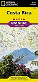 Wegenkaart - Landkaart Costa Rica - Adventure Map National Geographic