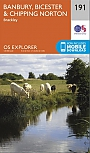 Topografische Wandelkaart 191 Banbury / Bicester / Chipping Norton Brackley - Explorer Map