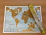 Wereldkraskaart Scratch the World travel Papier 42 x 30 cm | Maps International