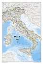 Wandkaart Italië (Engelstalig) 70 x 90 cm| National Geographic Wall Map