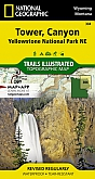Wandelkaart 304 Tower / Canyon (Yellowstone North East) - Trails Illustrated Map / National Park Maps National Geographic