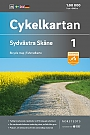 Fietskaart Zweden 1 Skane South west Cykelkartan