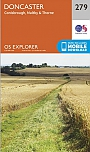 Topografische Wandelkaart 279 Doncaster Conisbrough, Maltby & Thorne - Explorer Map