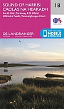 Topografische Wandelkaart 18 Sound of Harris North Uist, Taransay & St Kilda  - Landranger Map
