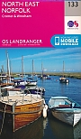 Topografische Wandelkaart 133 North East Norfolk Cromer & Wroxham - Landranger Map
