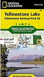 Wandelkaart 305 Yellowstone Lake (Yellowstone South East) - Trails Illustrated Map / National Park Maps National Geographic