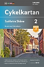 Fietskaart Zweden Skane South east 2 Cykelkartan