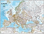 Magneetbord Wandkaart Europa staatkundige indeling (Engelstalig) 77 x 60 cm | National Geographic Wall Map