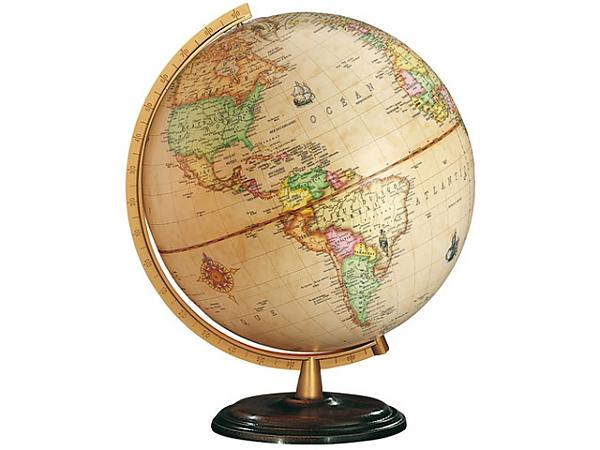 Wereldbol Globe Renaissance (603058H) 30cm, antiek én verlicht ...