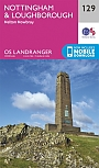 Topografische Wandelkaart 129 Nottingham / Loughborough Melton Mowbray - Landranger Map