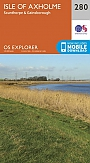 Topografische Wandelkaart 280 Isle of Axholme Scunthorpe & Gainsborough - Explorer Map