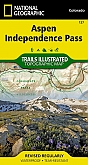 Wandelkaart 127 Aspen / Independence Pass (Colorado) - Trails Illustrated Map / National Park Maps National Geographic