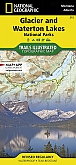 Wandelkaart 215 Glacier/Waterton Lakes (Montana) - Trails Illustrated Map / National Park Maps National Geographic