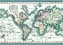 Wereldkaart Tapijt Chart of the world tapijt mercator's projection