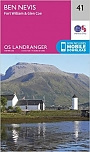 Topografische Wandelkaart 41 Ben Nevis / Fort William / Glen Coe - Landranger Map