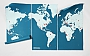 Wereldkaart Wall Map Diary Pin World XL (Blauw) 210x 130cm | Palomar