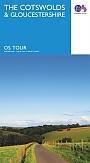 Fietskaart Wegenkaart - Landkaart 8 The Cotswolds & Gloucestershire | Ordnance Survey Tour Map