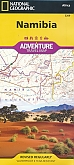 Wegenkaart - Landkaart Namibië Namibia - Adventure Map National Geographic
