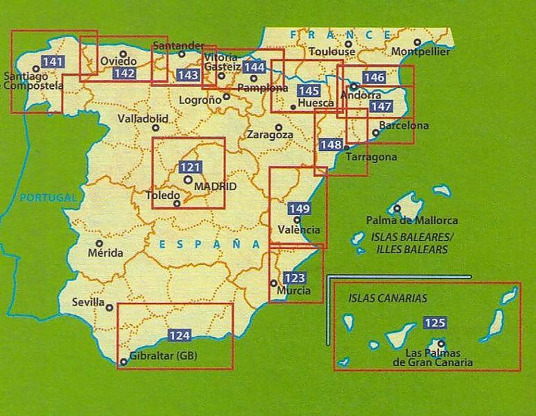 Fietskaart Wegenkaart Landkaart 123 Costa Blanca Michelin